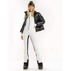 Жіночі лижні штани-напівкомбінезон SoftShell 8К 8848 Altitude Cruella White