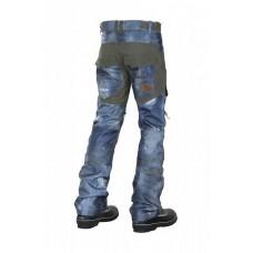 Чоловічі сноубордичні штани 10K REHALL Crack Used Denim