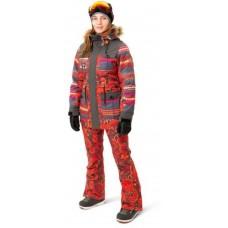 Жіночі сноубордичні штани 10К REHALL Jenny Orange Flowers