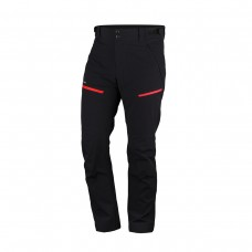 Чоловічі брюки для трекінгу  Northfinder NO-3698OR  Black/Red