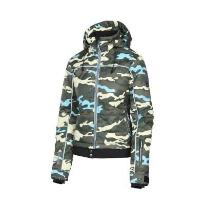 Жіноча лижна куртка 10K Rehall Vero Camo Olive