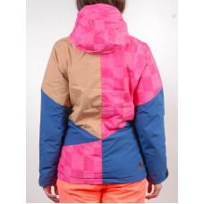 Жіноча сноубордична куртка 10K Rehall Candy Raspberry Check