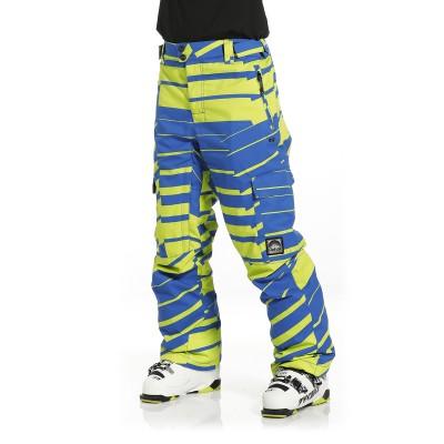 Чоловічі сноубордичні штани 10K REHALL Edge Lime Blue